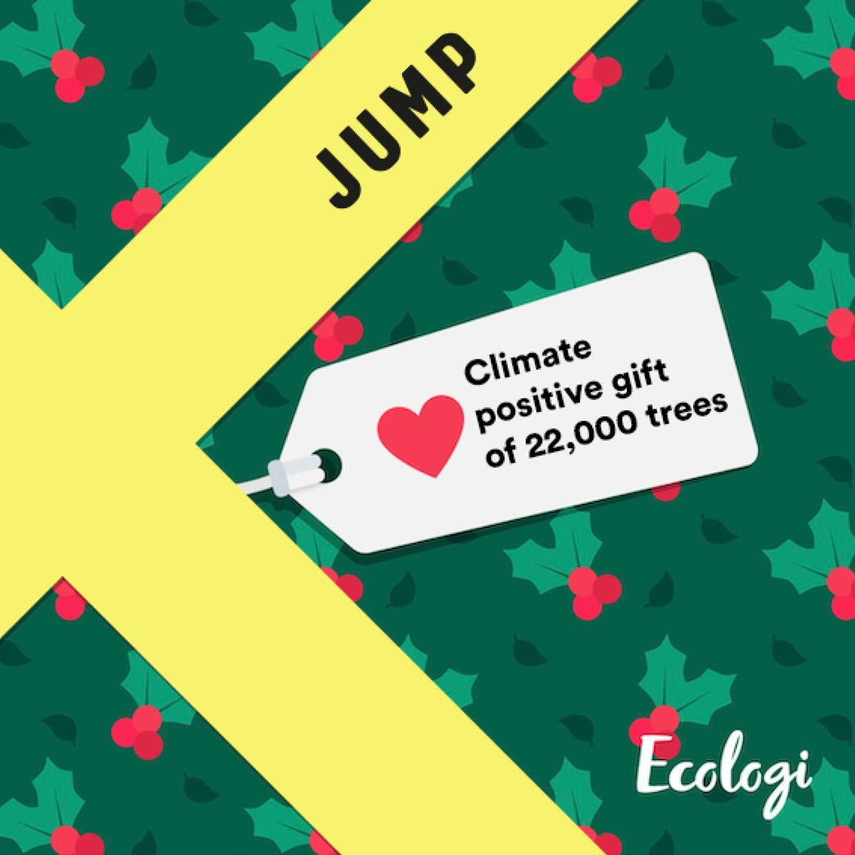 This Christmas we've planted 22,000 trees and we want to say a great big thank you.